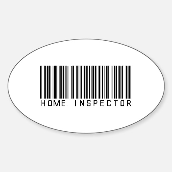 Home Inspector Barcode Oval Decal