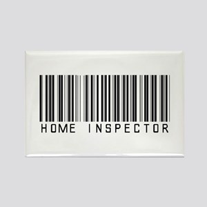 Home Inspector Barcode Rectangle Magnet