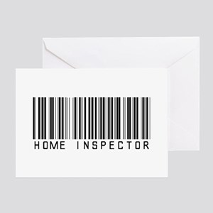 Home Inspector Barcode Greeting Card