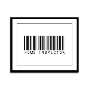 Home Inspector Barcode Framed Panel Print