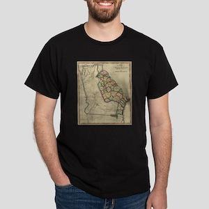 Vintage Map of Georgia (1817) T-Shirt