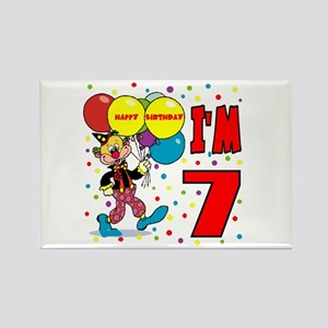 Clown 7th Birthday Rectangle Magnet
