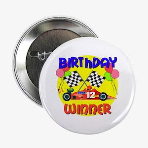 Racecar 12th Birthday Button