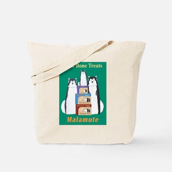 Malamute Milk Bones Tote Bag