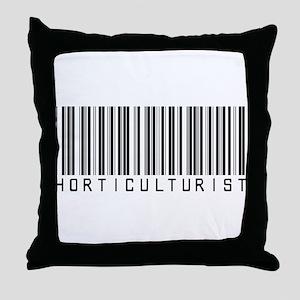 Horticulturist Barcode Throw Pillow