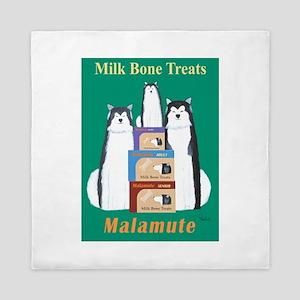 Malamute Milk Bones Queen Duvet