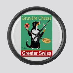Greater Swiss Gruyère Cheese Large Wall Clock