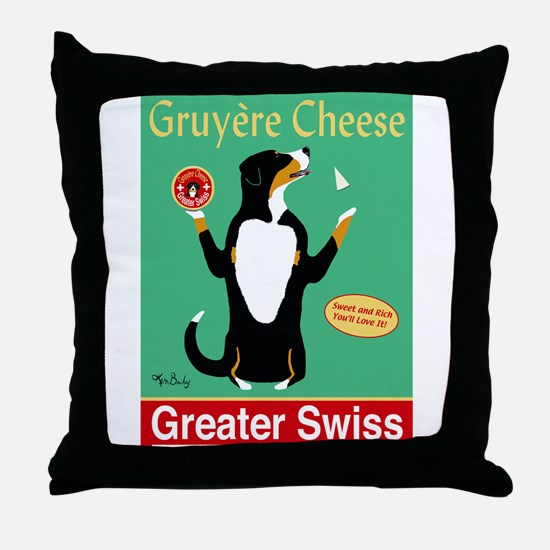 Greater Swiss Gruyère Cheese Throw Pillow