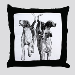 Beagles Throw Pillow