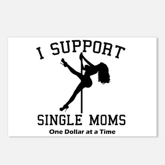 BLK I Support Single Moms Postcards (Package of 8)