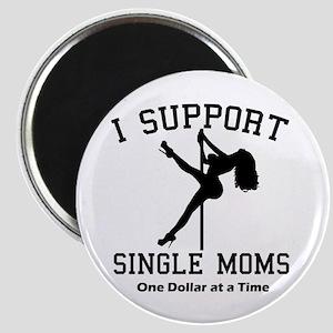 BLK I Support Single Moms Magnet