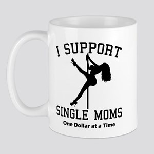 BLK I Support Single Moms Mug