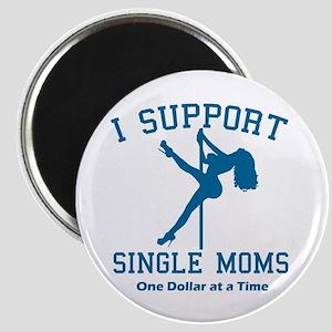 BL I Support Single Moms Magnet