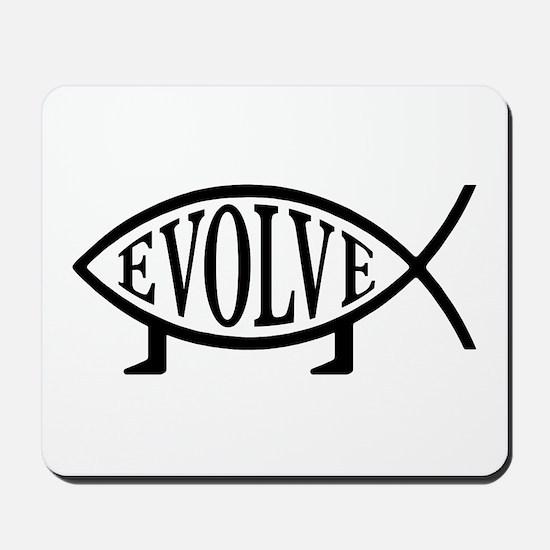 Evolution Fish Mousepad