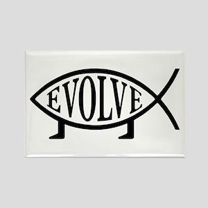Evolution Fish Rectangle Magnet