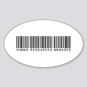 Human Res. Mgr. Barcode Oval Sticker