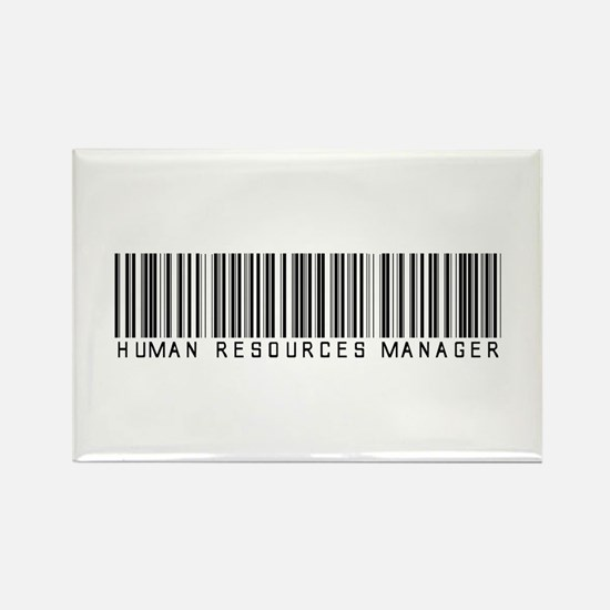 Human Res. Mgr. Barcode Rectangle Magnet