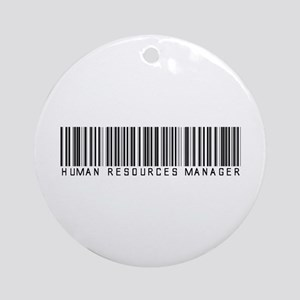 Human Res. Mgr. Barcode Ornament (Round)