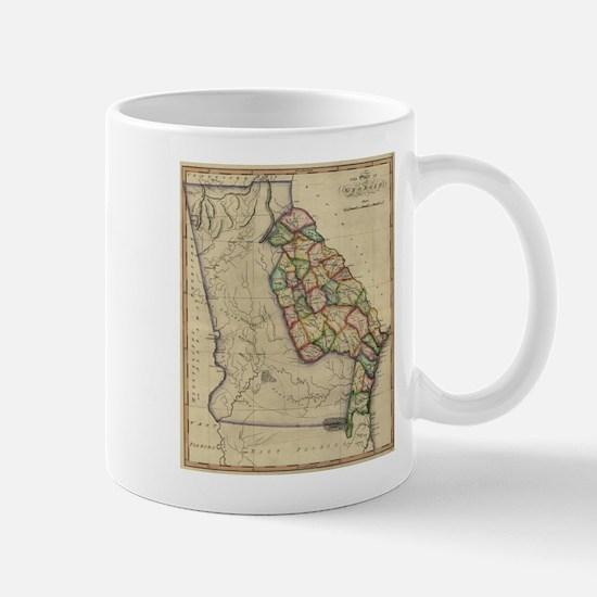 Vintage Map of Georgia (1817) Mugs