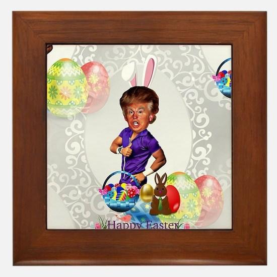 easter bunny donald trump Framed Tile