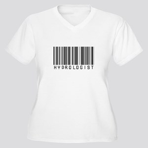 Hydrologist Barcode Women's Plus Size V-Neck T-Shi