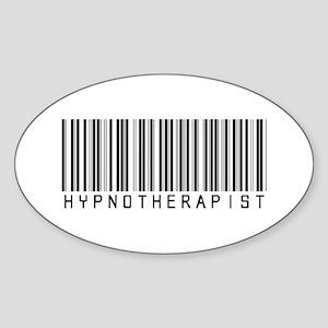 Hypnotherapist Barcode Oval Sticker