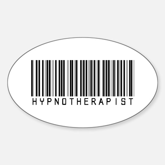 Hypnotherapist barcode oval decal