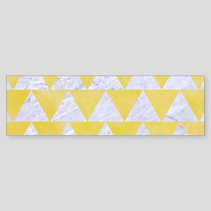 TRIANGLE2 WHITE MARBLE & YELLOW W Sticker (Bumper)