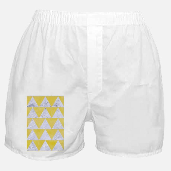 TRIANGLE2 WHITE MARBLE & YELLOW WATER Boxer Shorts