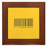 Pittsburgher Barcode Framed Tile
