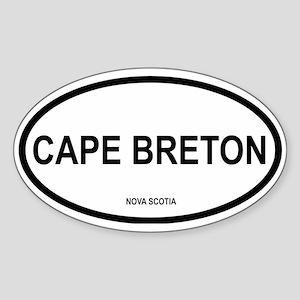 Cape Breton Oval Sticker
