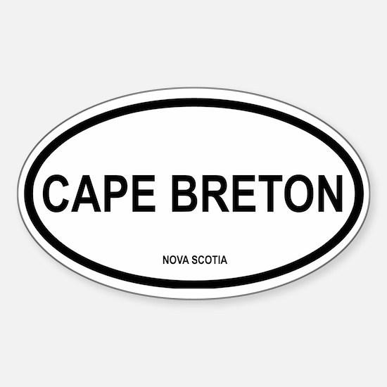 Cape Breton Oval Decal