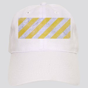 STRIPES3 WHITE MARBLE & YELLOW WATERCOLOR Cap