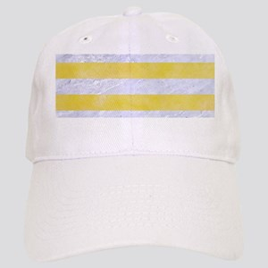 STRIPES2WHITE MARBLE & YELLOW WATERCOLOR Cap