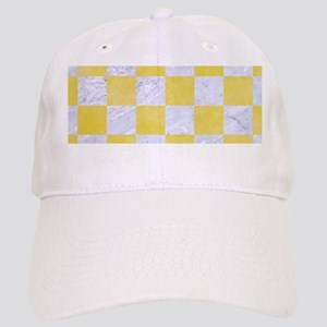 SQUARE1 WHITE MARBLE & YELLOW WATERCOLOR Cap