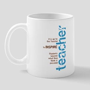 Teacher's Inspire (Blue/Brown Mug