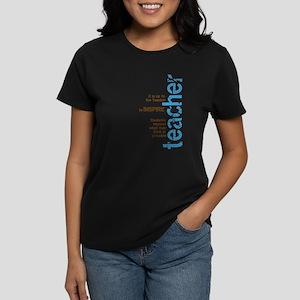 Teacher's Inspire (Blue/Brown Women's Dark T-Shirt