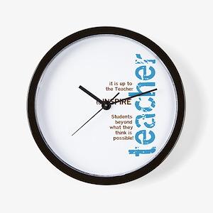 Teacher's Inspire (Blue/Brown Wall Clock