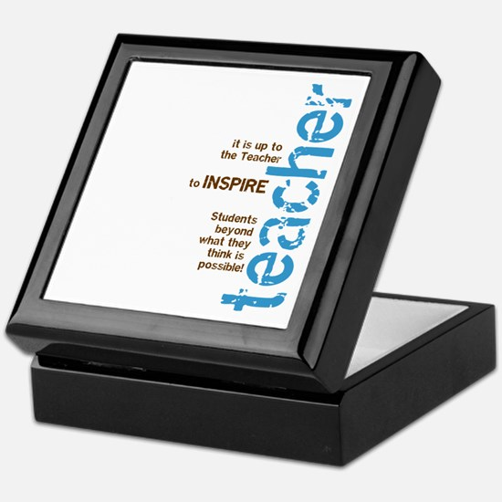 Teacher's Inspire (Blue/Brown Keepsake Box