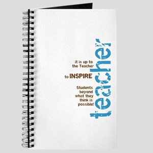 Teacher's Inspire (Blue/Brown Journal