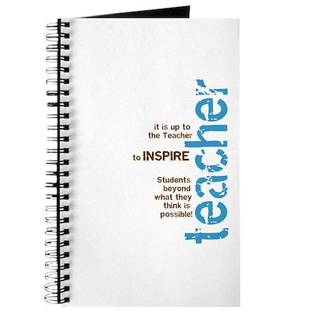 Teacher's Inspire (Blue/Brown Journal