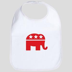 Republican Elephant Logo-Single Color Bib