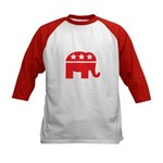 Republican Elephant Logo-Single Color Kids Basebal