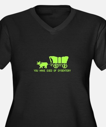 Died of Dysentery Women's Plus Size V-Neck Dark T-