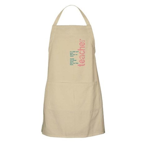 If a Child can't Learn (Pink/ BBQ Apron