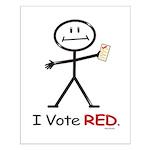 Stick Figure Vote Red Small Poster