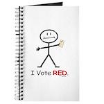 Stick Figure Vote Red Journal
