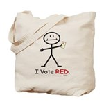Stick Figure Vote Red Tote Bag