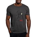 Stick Figure Vote Red Dark T-Shirt
