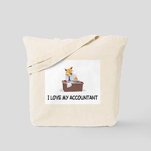 I Love My Accountant Tote Bag